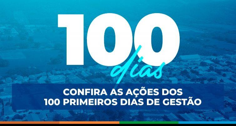 Prestação de contas: 100 dias de gestão